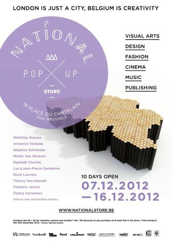 National Pop up store Brussels